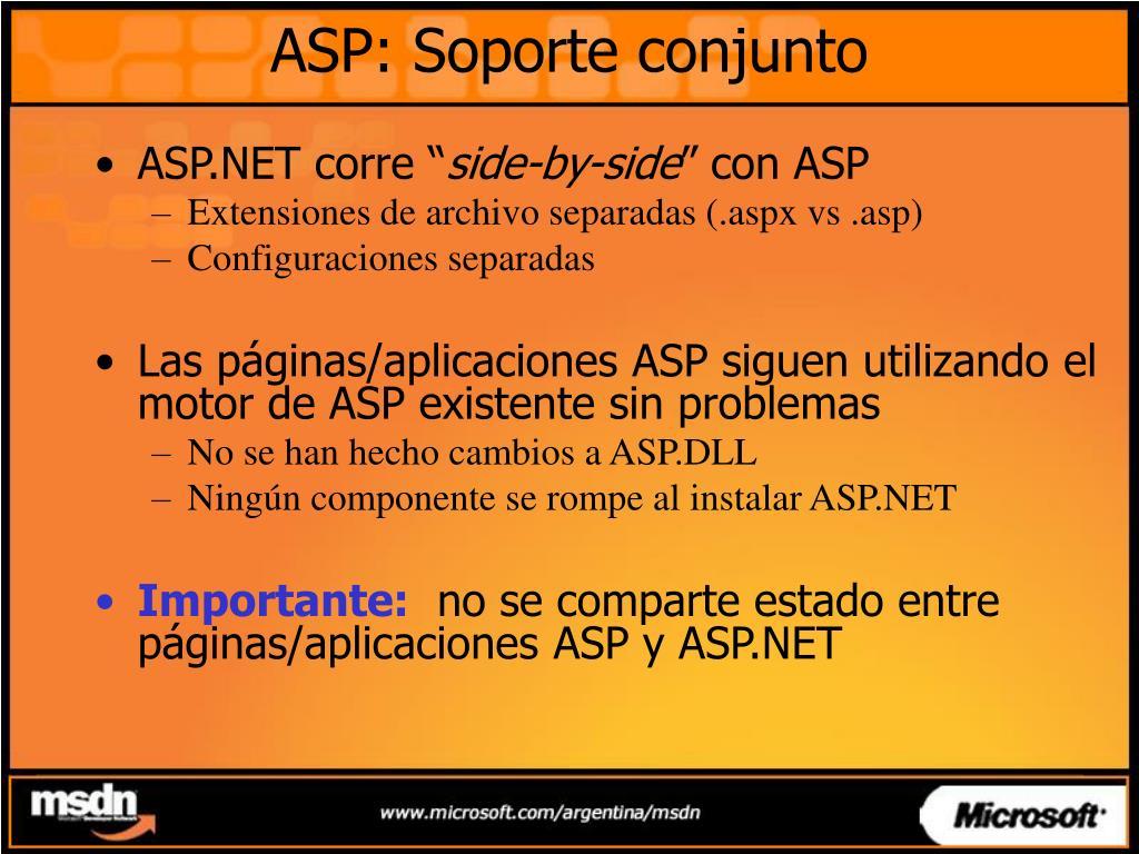 ASP: Soporte conjunto