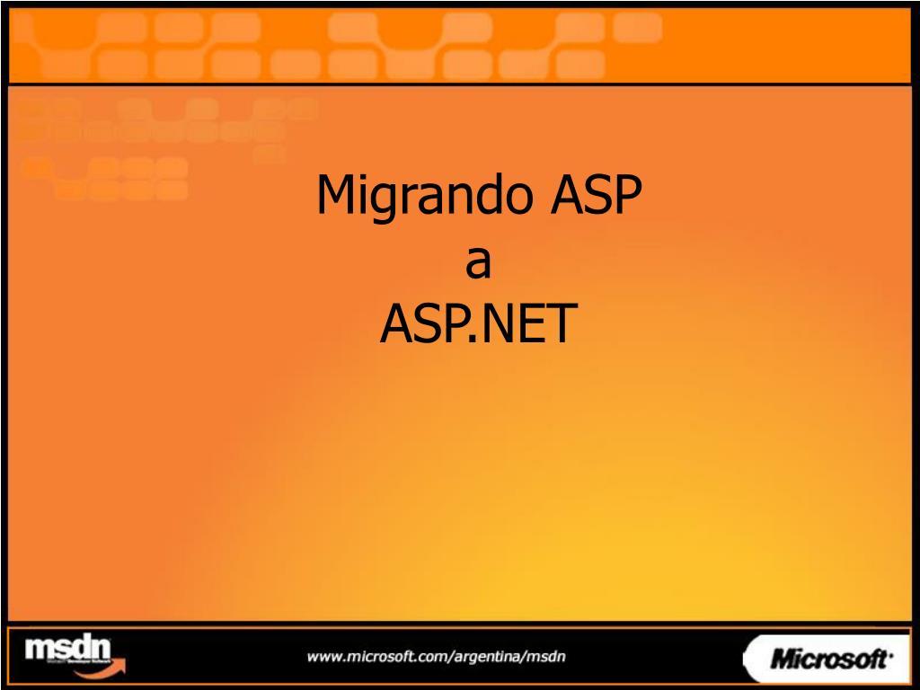 Migrando ASP