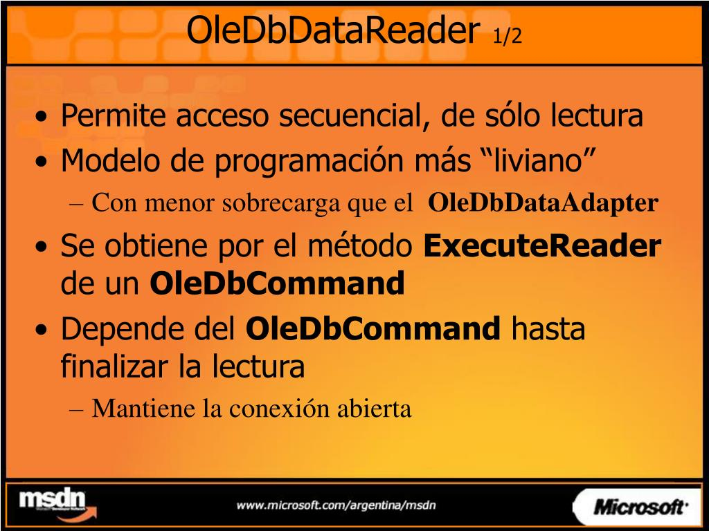 OleDbDataReader