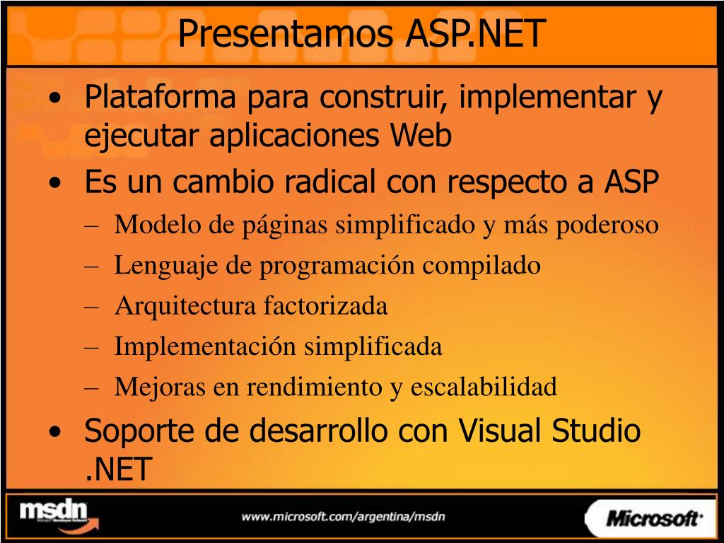 Presentamos ASP.NET