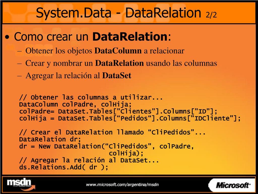 System.Data - DataRelation