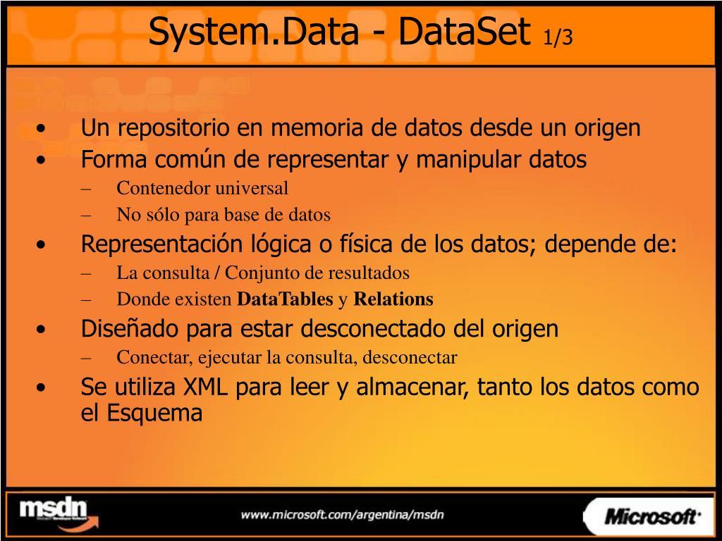 System.Data - DataSet