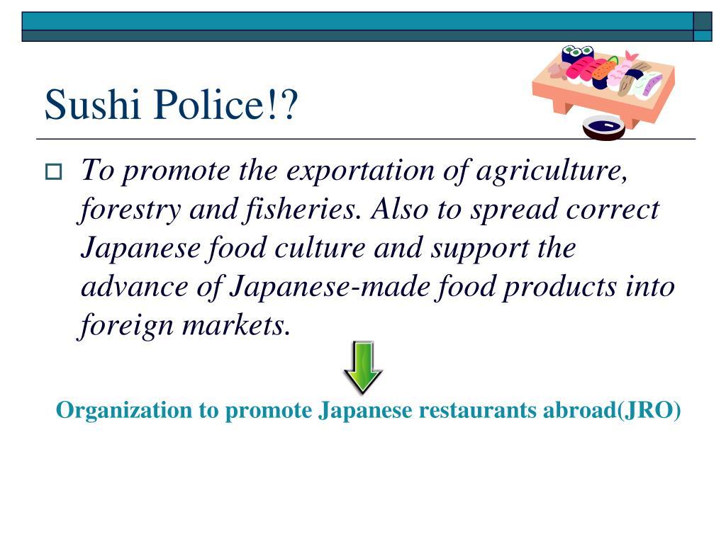 Sushi Police!?