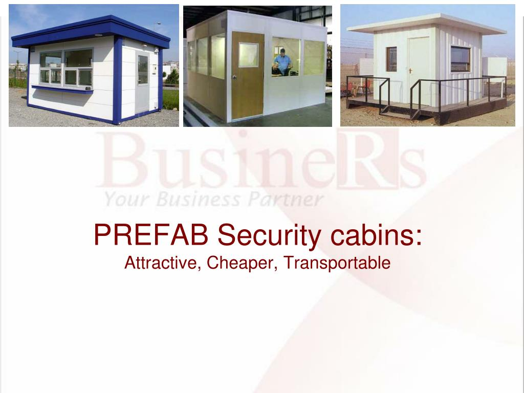 PREFAB Security cabins: