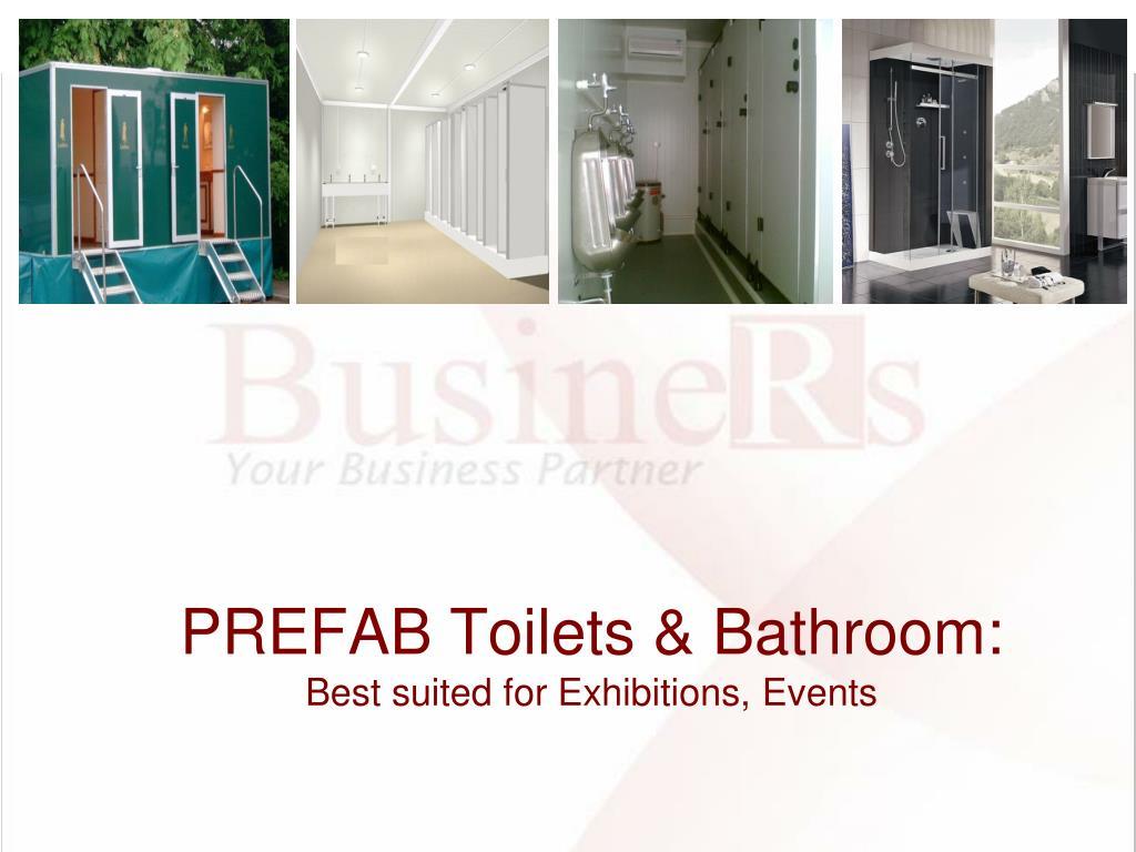 PREFAB Toilets & Bathroom: