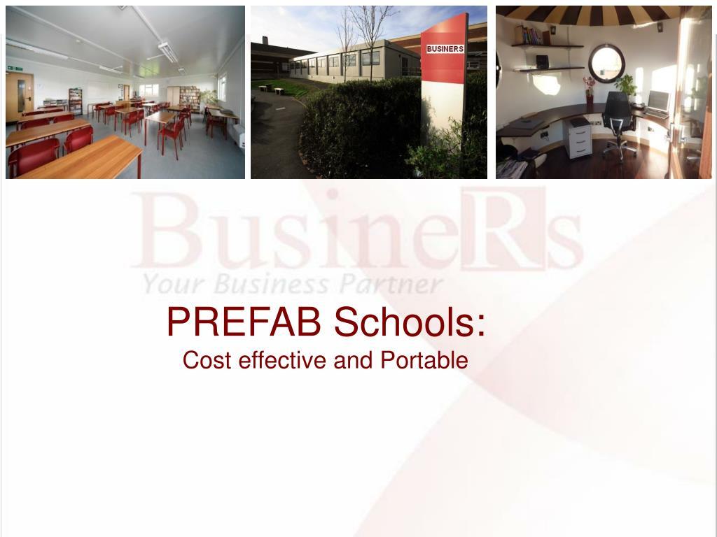 PREFAB Schools: