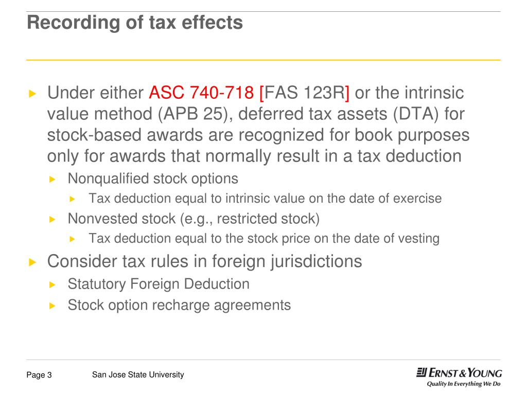 How are employee stock options taxed