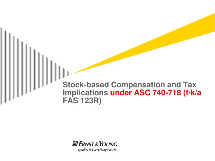 Fas 123r stock options