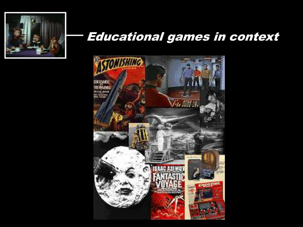 Educational games in context