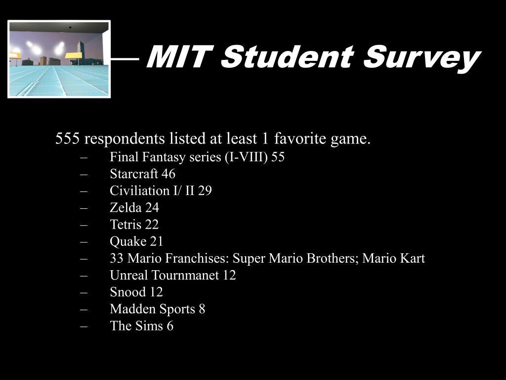 MIT Student Survey