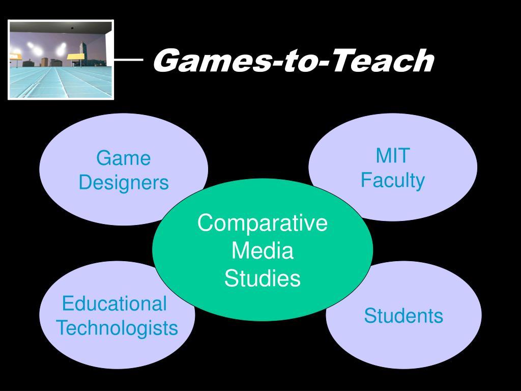 Games-to-Teach