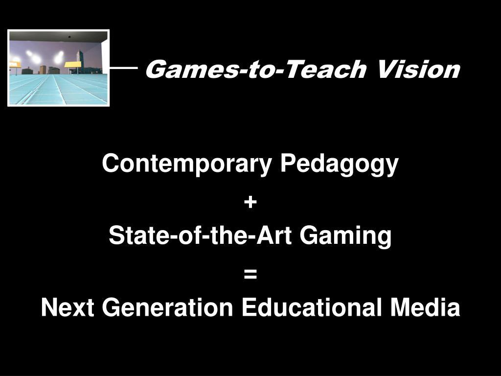 Games-to-Teach Vision