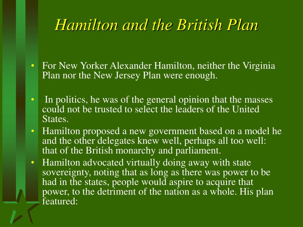Hamilton and the British Plan