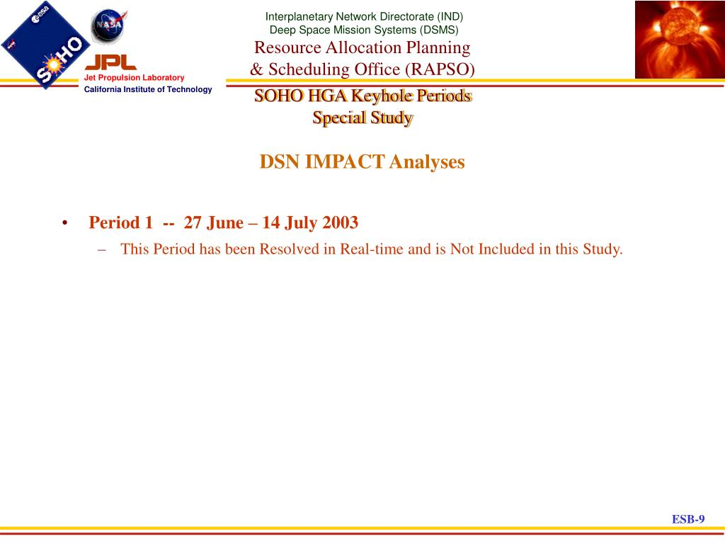 DSN IMPACT Analyses