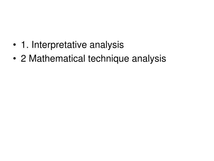 1. Interpretative analysis