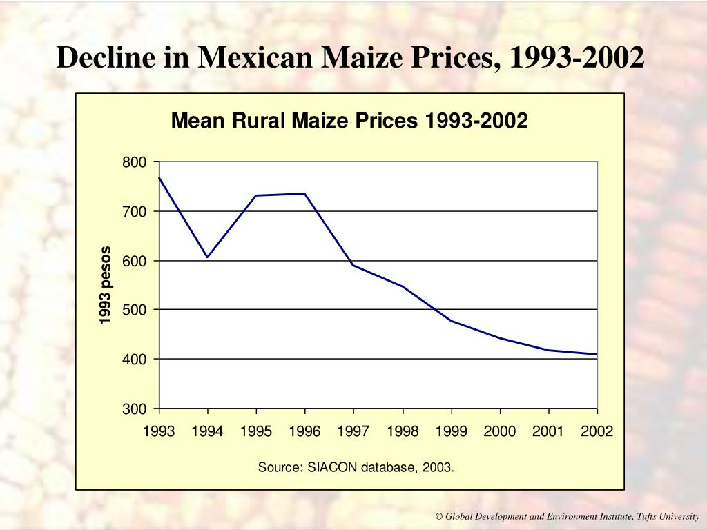 Decline in Mexican Maize Prices, 1993-2002