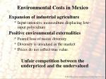 environmental costs in mexico