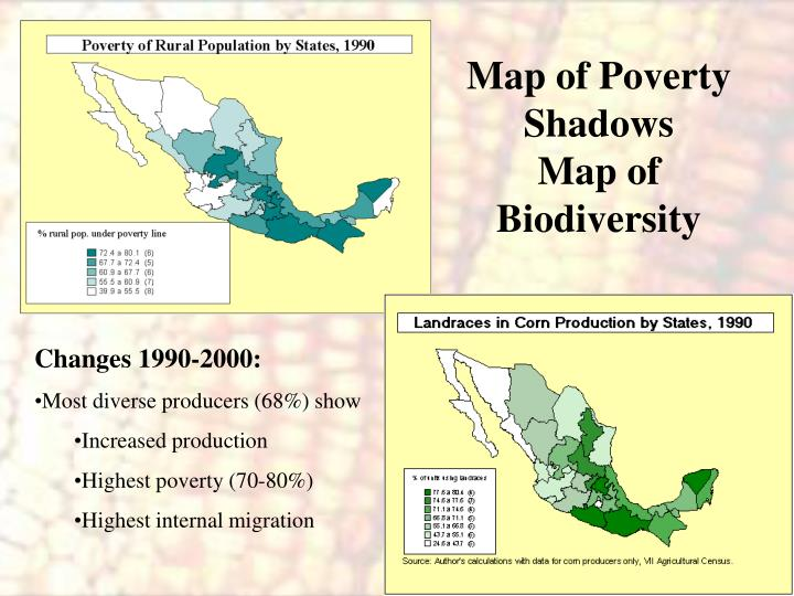 Map of poverty shadows map of biodiversity