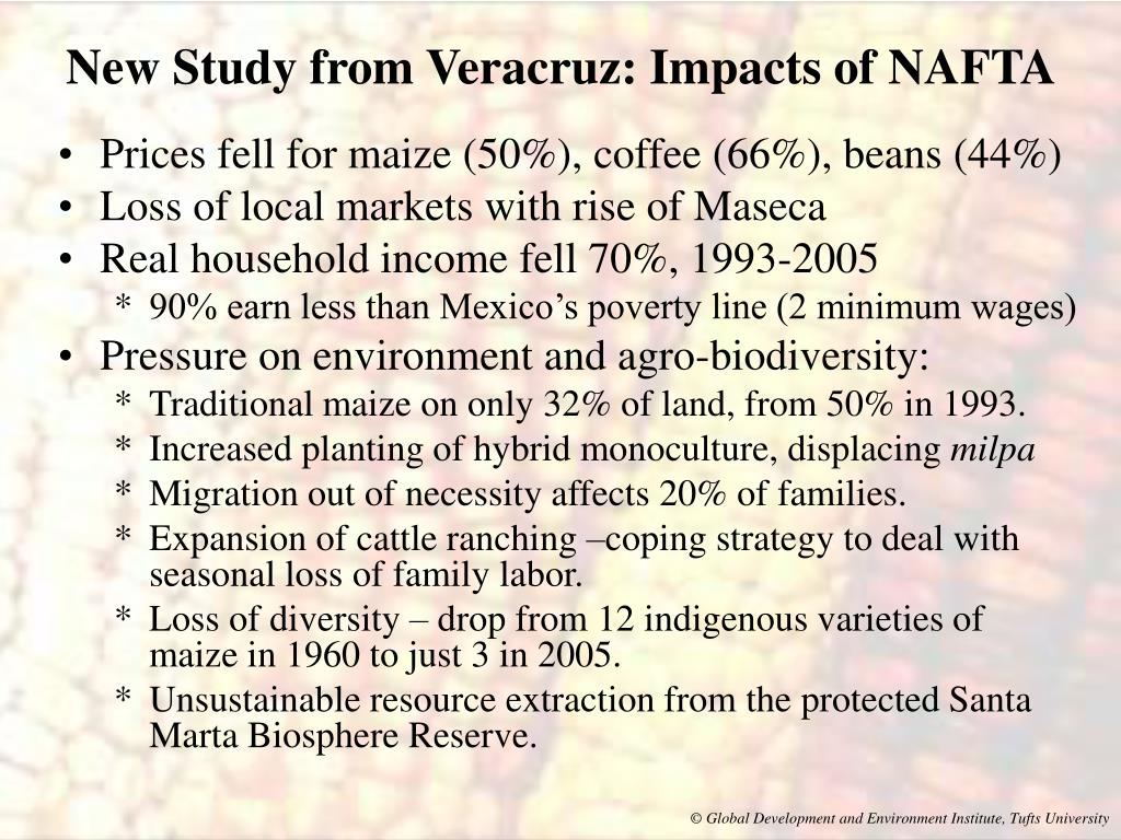 New Study from Veracruz: Impacts of NAFTA