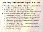 new study from veracruz impacts of nafta