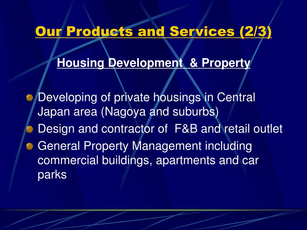 Our Products and Services (2/3)