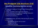 our products and services 3 3