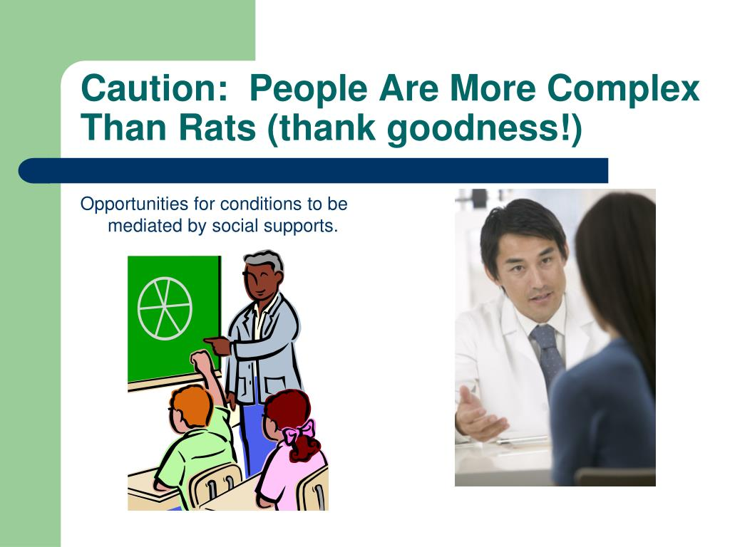 Caution:  People Are More Complex Than Rats (thank goodness!)