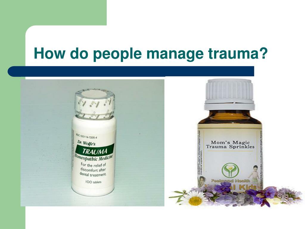 How do people manage trauma?