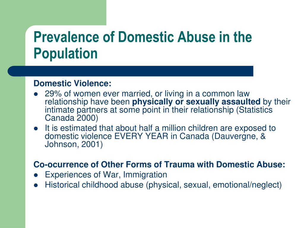 Prevalence of Domestic Abuse in the Population