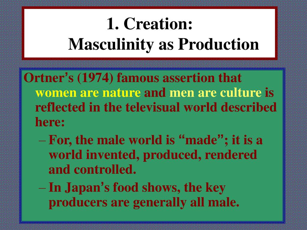 1. Creation:
