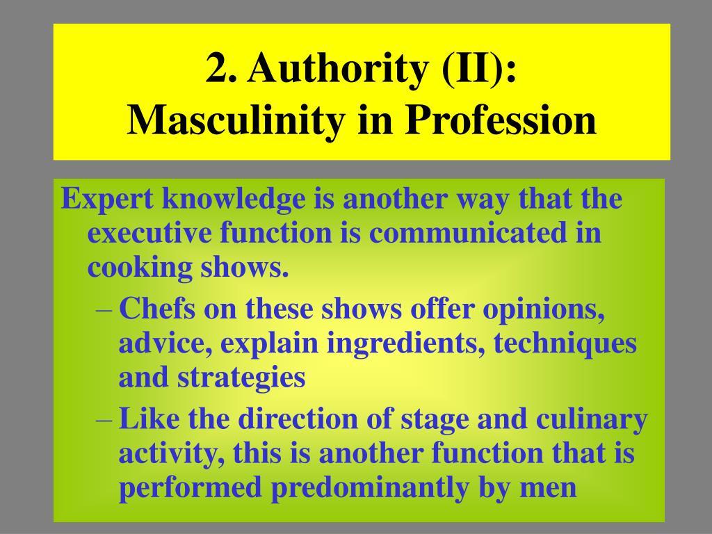 2. Authority (II):