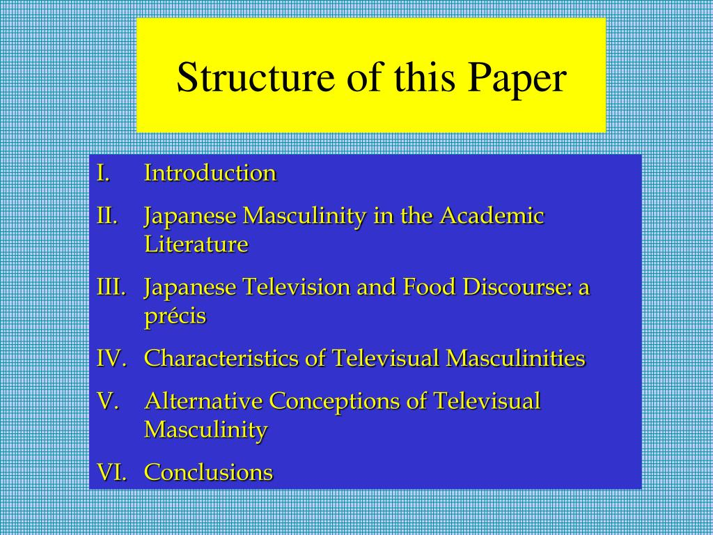 Structure of this Paper