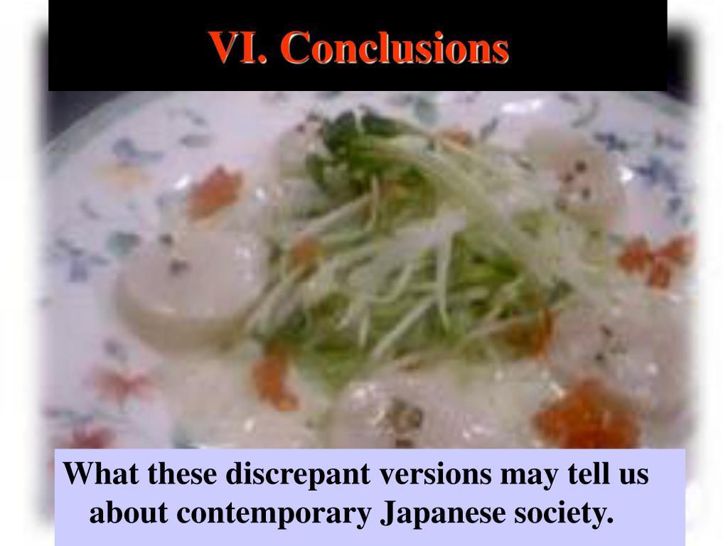 VI. Conclusions