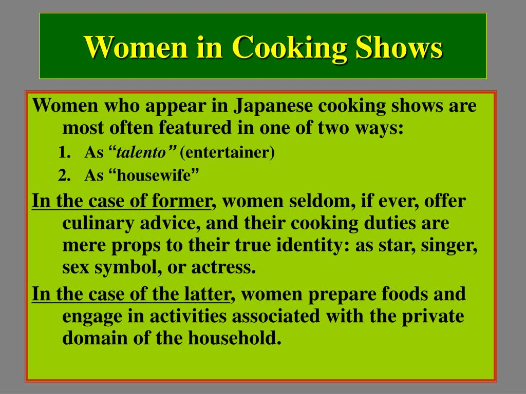 Women in Cooking Shows