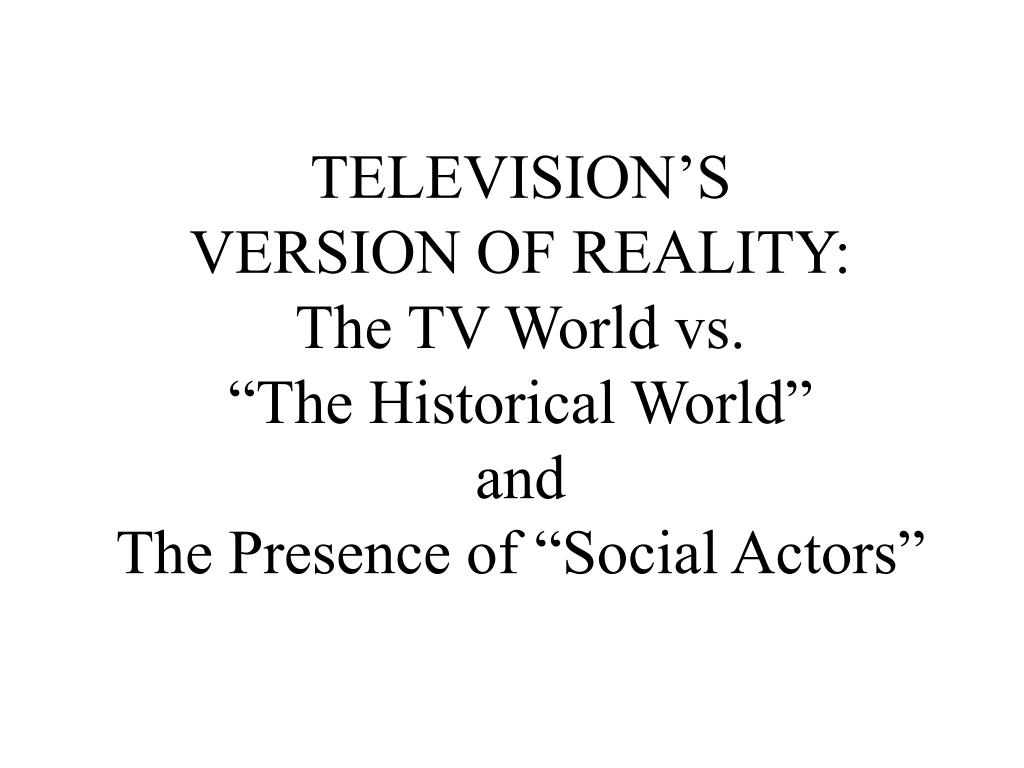 TELEVISION'S