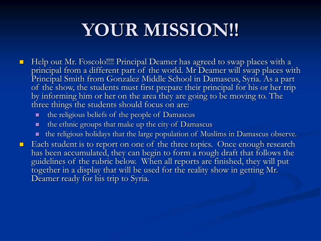 YOUR MISSION!!