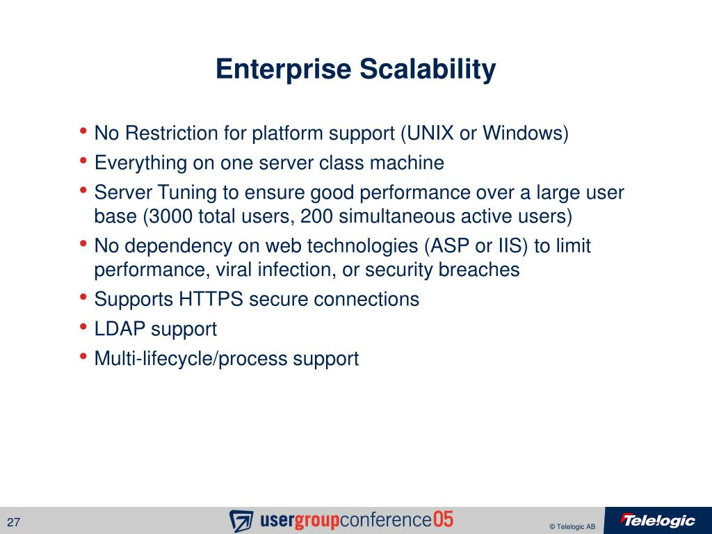 Enterprise Scalability