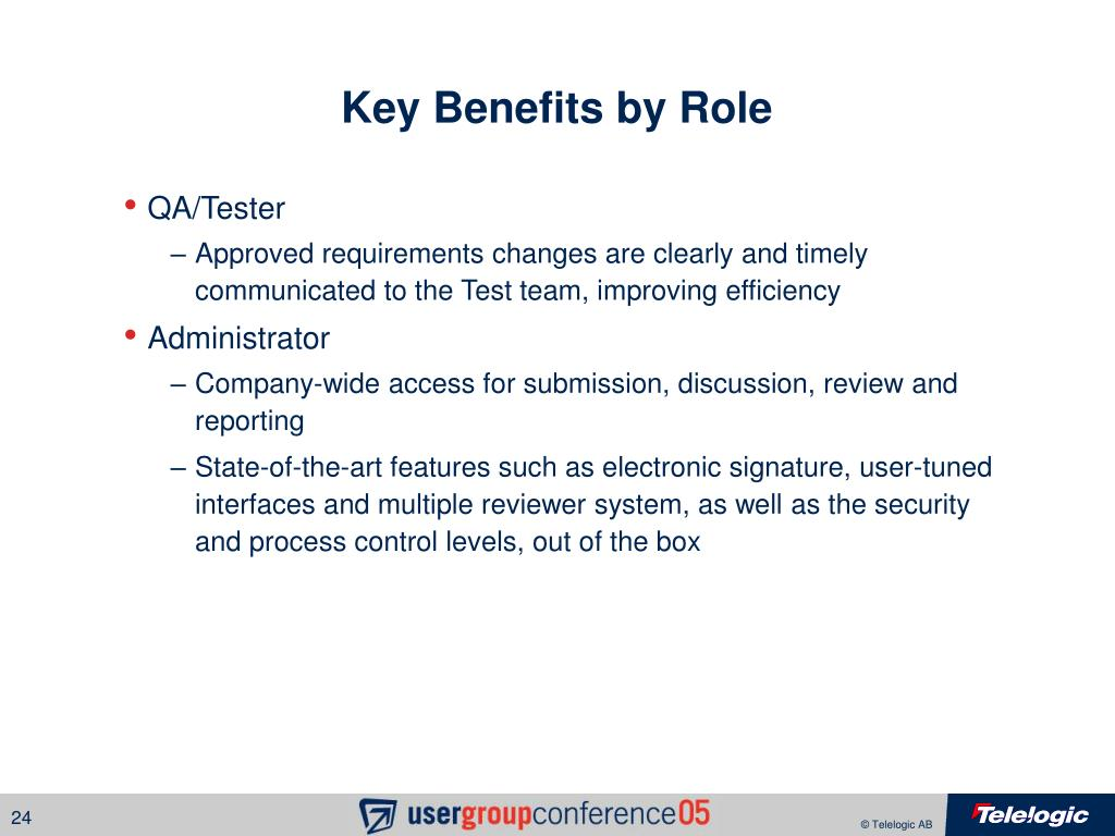 Key Benefits by Role