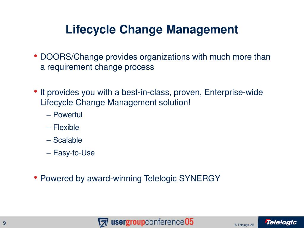 Lifecycle Change Management