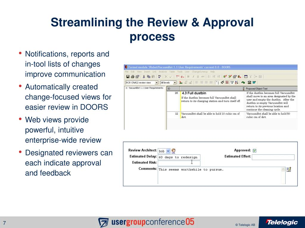 Streamlining the Review & Approval process