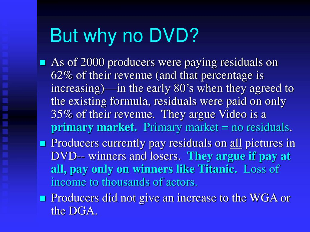 But why no DVD?
