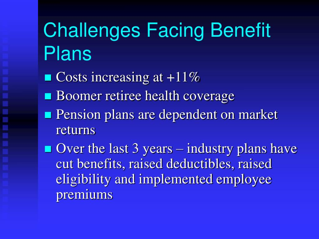 Challenges Facing Benefit Plans