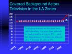 covered background actors television in the la zones