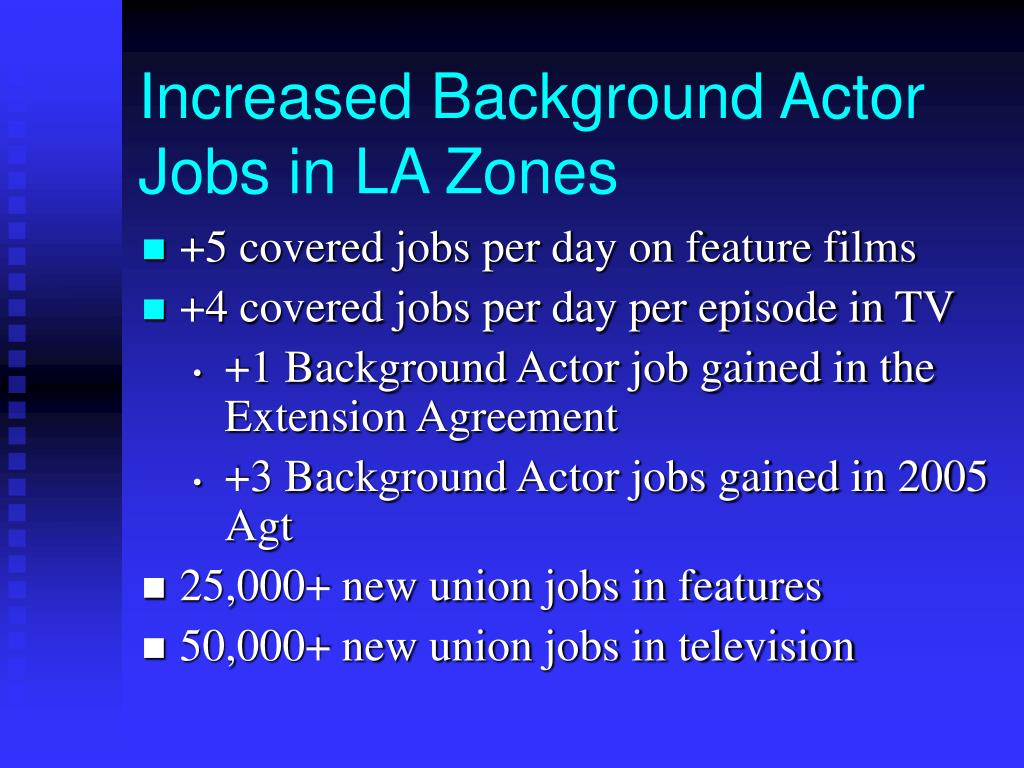 Increased Background Actor