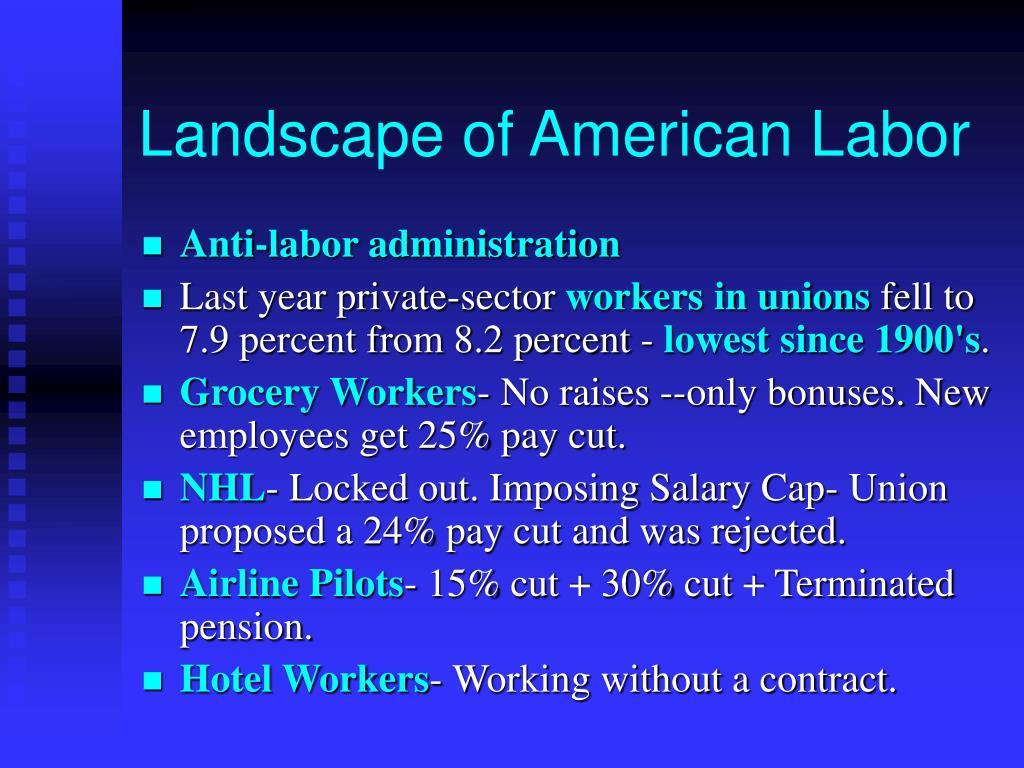 Landscape of American Labor