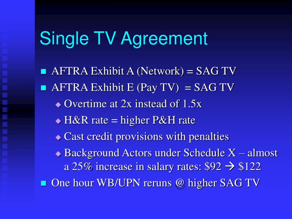 Single TV Agreement