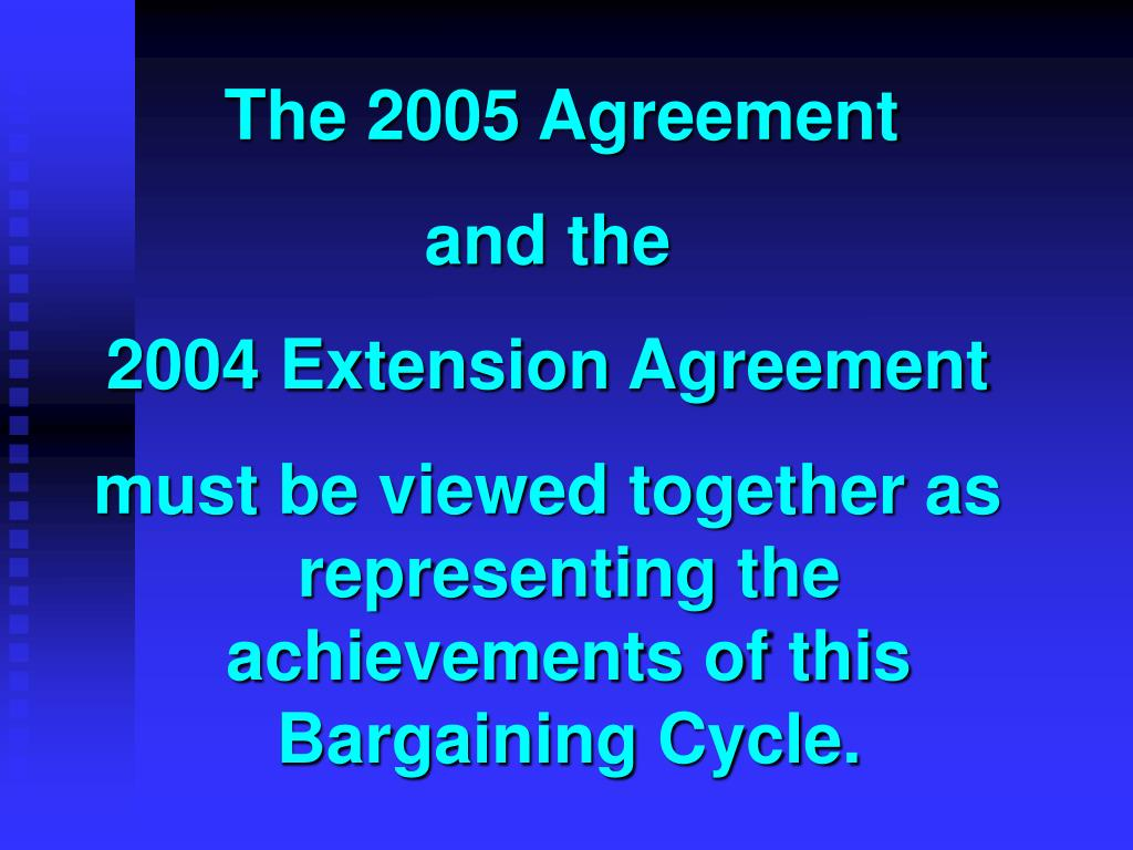 The 2005 Agreement