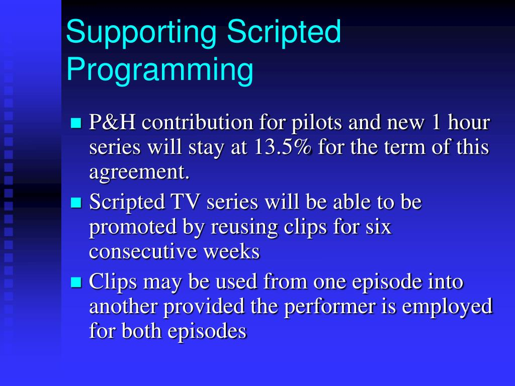 Supporting Scripted Programming