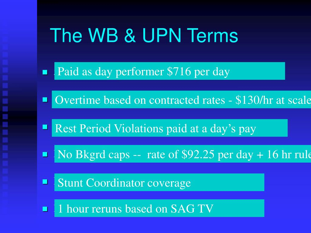 The WB & UPN Terms