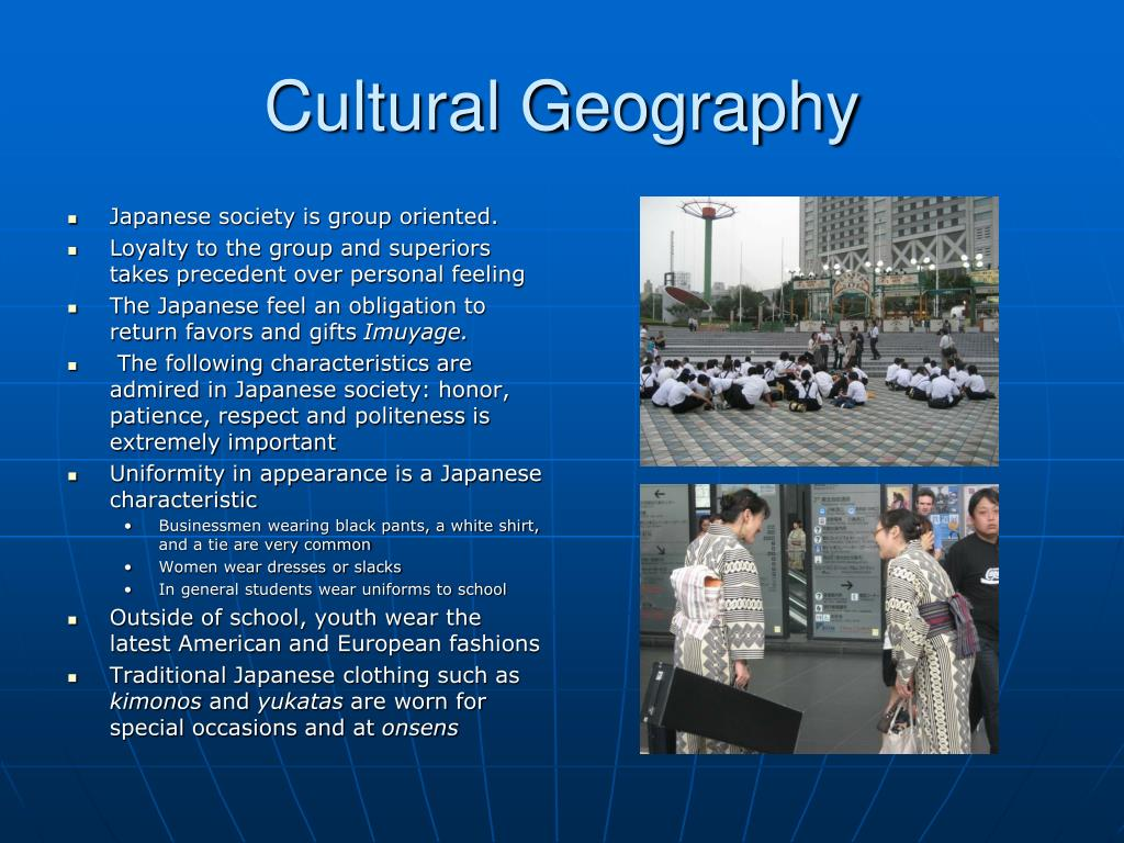 Japanese society is group oriented.